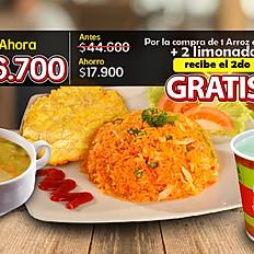 Hoy 2x1 Arroz con Pollo -  $26.700