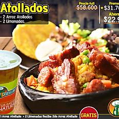 Hoy $31.700 2x1 Arroz Atollado + Limonadas