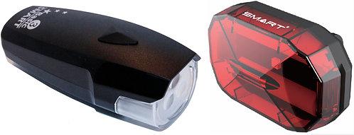 Smart Polaris 3 Front 3 White LED / Diamond Rear - 3 LED Twinset