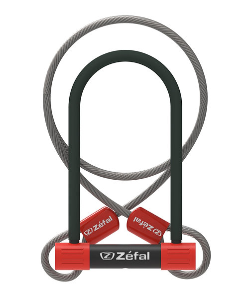 Zefal K-Traz U13 U-Lock with Cable 230mm SOLD SECURE Silver