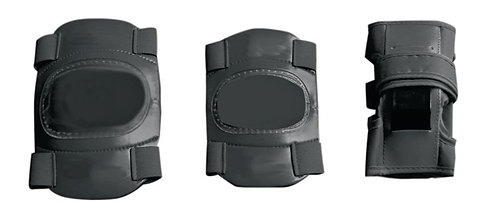 Junior Elbow, Wrist and Knee Pad Set in Black