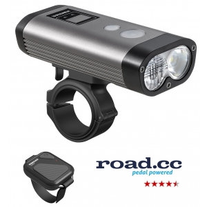 Ravemen PR1600 USB Rechargeable DuaLens Front Light with Remote in Grey/Black