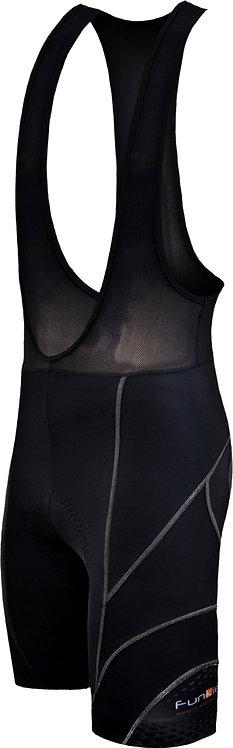 Funkier Force S-922-C14 Active 17 Panel Bib Shorts in Black