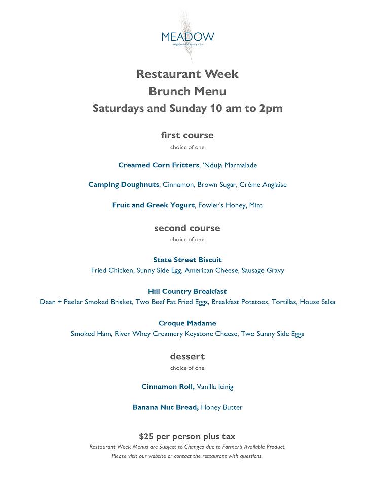 Restaurant Week Menus January 2021 1.23.