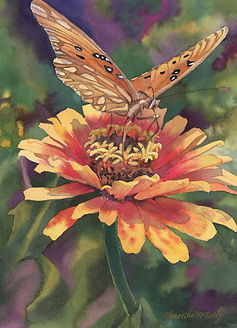 Zinnia with a Butterfly.jpg