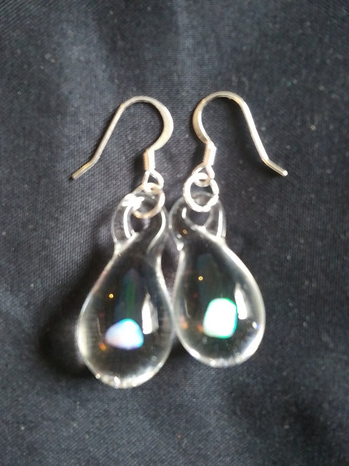 Water Drop Earrings with Gilson Opals