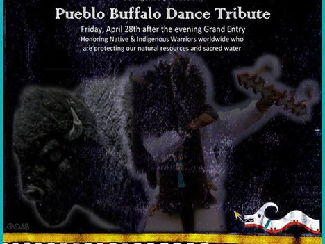 Huge Honor and Blessing for the Pueblo Buffalo Dancers
