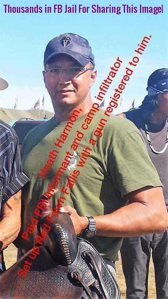 Infiltrator Heath Harmon set up Red Fawn at Standing Rock