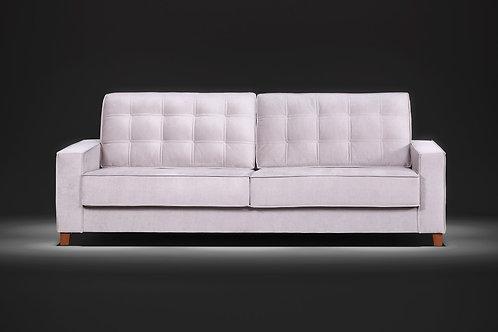 Sofá assento fixo Volare com percintas elásticas 2,30m tecido veludo