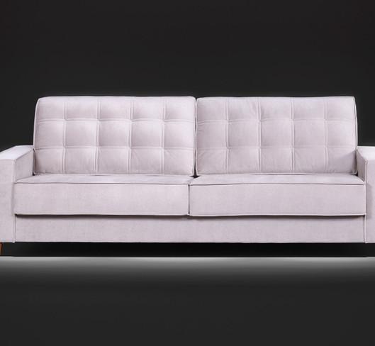 Sofá assento fixo Volare com percintas elásticas 2,30m tecido veludo O sofá Volare traz um toque de requinte a qualquer ambiente, com detalhes em captone no encosto e acabamento em debrum em toda sua extensão, remitindo conforto e beleza.  Valor: 1640,00