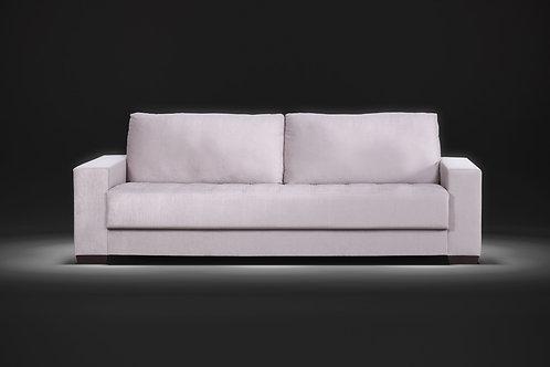 Sofá assento fixo Vittoria com percintas elásticas 2,40m tecido veludo