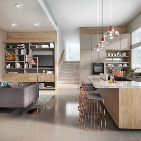 Cozinha e Sala Planejada