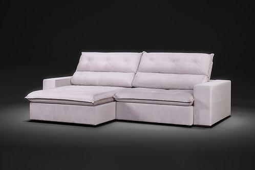 Sofá Retrátil reclinável Elegance com molas ensacadas 2,90m tecido veludo