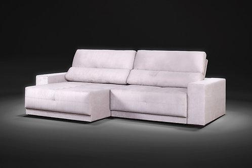 Sofá retrátil reclinável Versatti com molas ensacada 2,90m tecido veludo