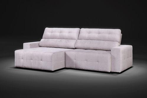 Sofá retrátil reclinável Fluence com molas ensacada 2,90m tecido veludo