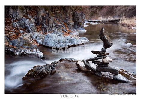 渓流とピナクル A4サイズ 写真作品