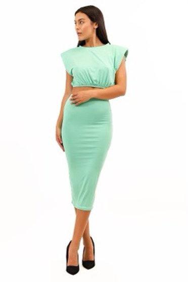 """""""Boss Chic"""" Skirt Set (Mint)"""