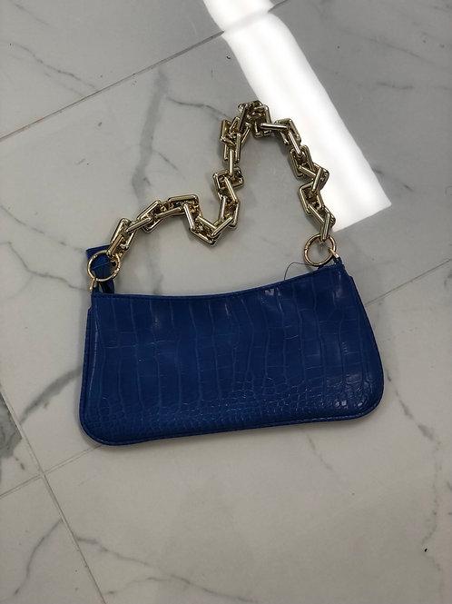 Blue Slim Shoulder Bag