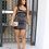 Thumbnail: Black Satin Mini Dress