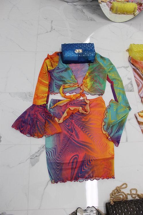 Anastasia Mesh Skirt Set