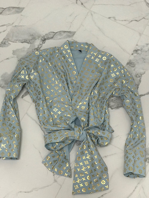 LV Wrap Top (Baby Blue)