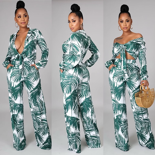 Vacation Housewife Pant Set
