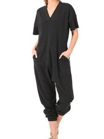 """Just """"Too Comfortable"""" Jumpsuit (Black)"""