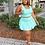 Thumbnail: Playfair Pleeted Skirt Set (Teal)