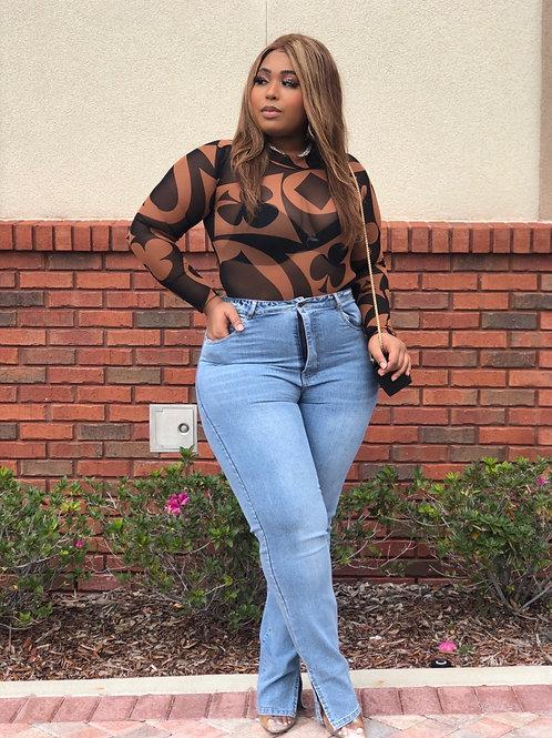 Split Hem Mom Jeans