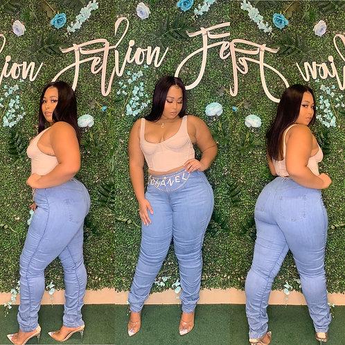 Super Stacked Denim Jeans