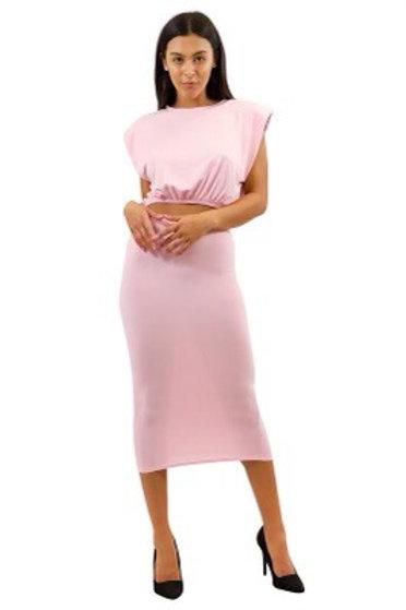 """""""Boss Chic"""" Skirt Set (Pink)"""
