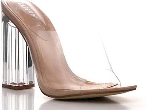 Peep Toe Clear Heels