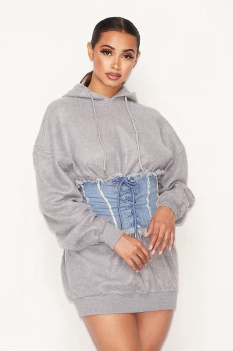 Snatched Hoodie Dress