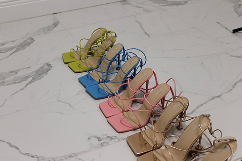 Nelly Lace Up Heels