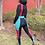 Thumbnail: Colorblock Legging Set (Burgundy)