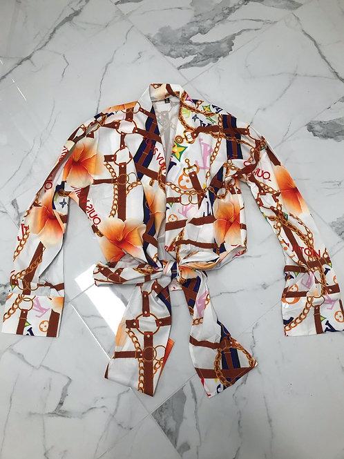LV Wrap Top (Floral)