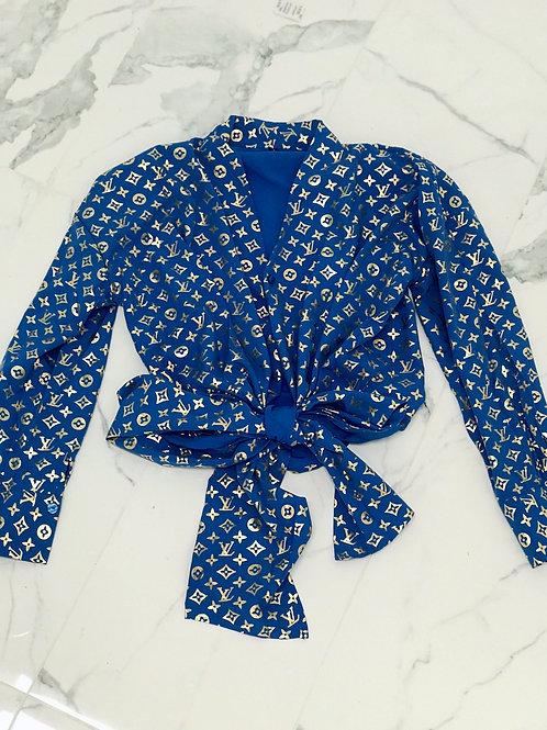 LV Wrap Top (Blue)