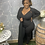 Thumbnail: PLUS Black Ribbed Jumpsuit Set