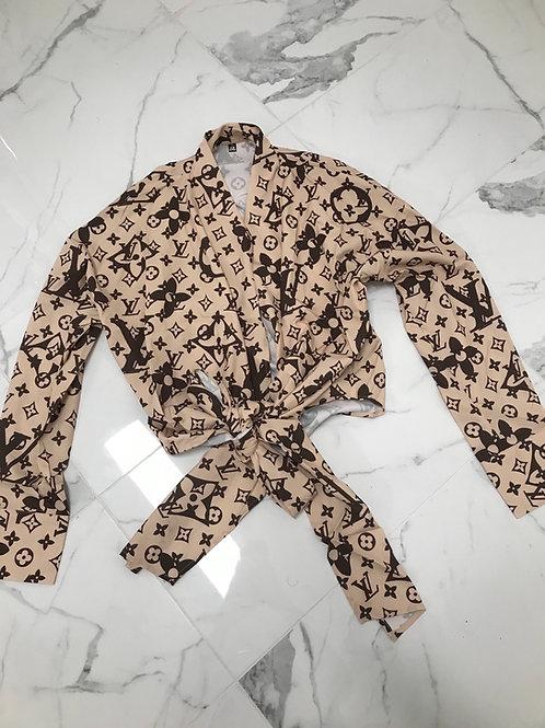 LV Wrap Top (Brown)