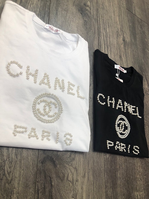 Chanel Pearl Graphic Tee