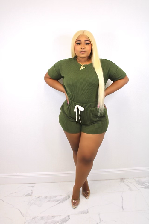 Everyday Casual Short Set (Green)