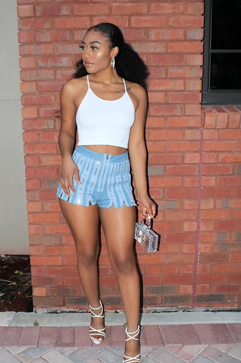 Zippered Shorts