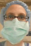Katrin Schaak wearing a face mask