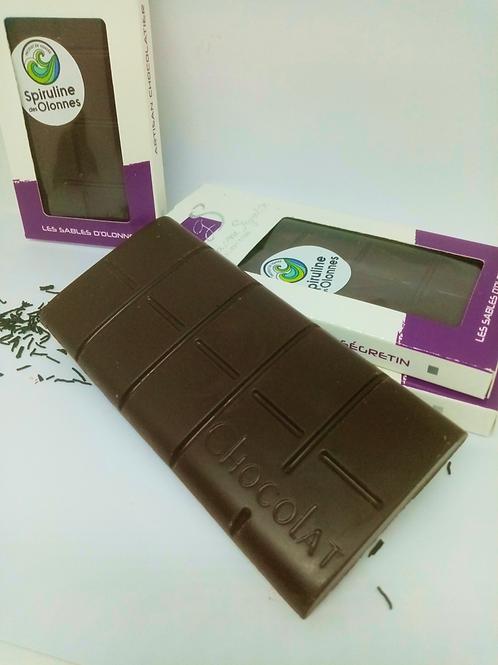 Chocolat noir bio et spiruline (10%) - 100 g