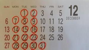【パンたなごころ】12月の営業について