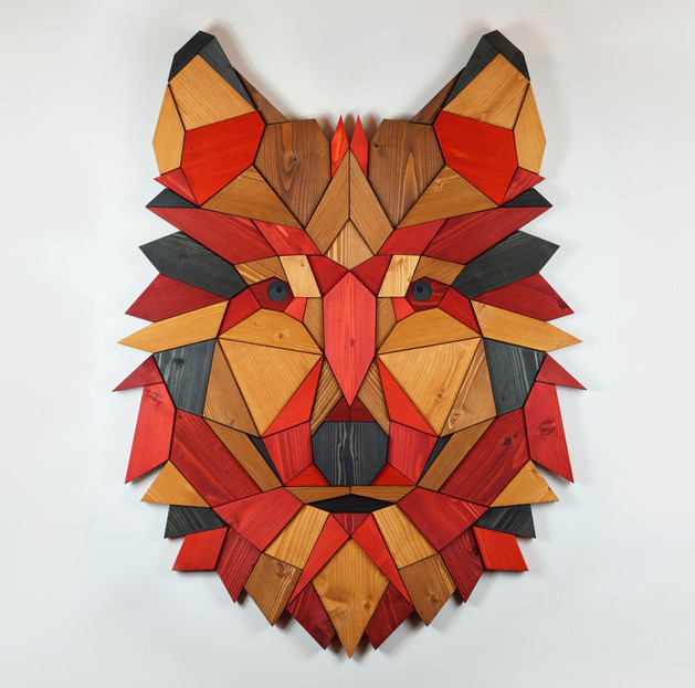 """""""Wolf #4 - red and wood"""""""