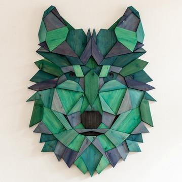 """Wolf #1 - blue to purple"""