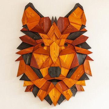 """""""Wolf #3 - black and wood"""""""