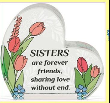 """Sisters"" Glass Decor"