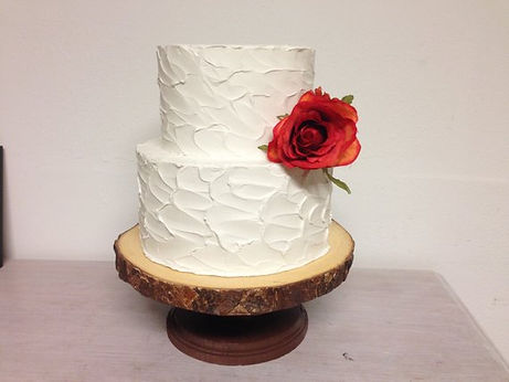 A Rustic 2 Tier Wedding Cake 2.jpg